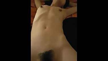 using vibrator on girlfriend pleasure