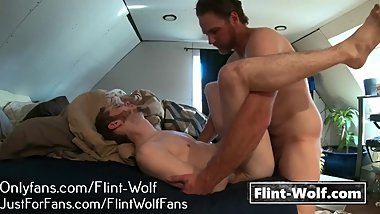 STRAIGHT NEIGHBOR FUCKS TWINK (Onlyfans.com/Flint-Wolf)