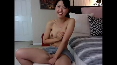 HOT Korean Puts Dildo Between Tits