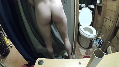Str8 Stepbro Caught Jerking In The Shower