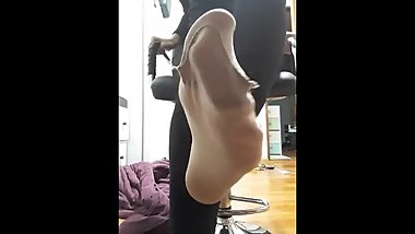 Korean feet POV Joi pantyhose
