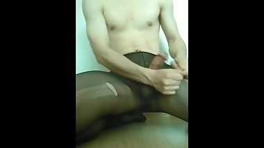 Korean slave tearing stockings