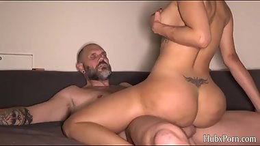Alice is at home serving the stepfather's big cock