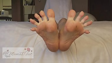 Spreading My Toes & Ripping My Nylons (Close View)