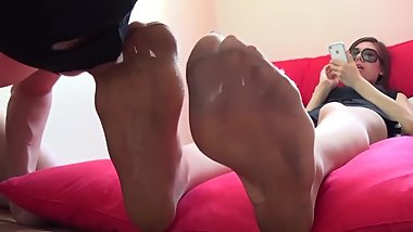 Korean Nylon Foot Worship