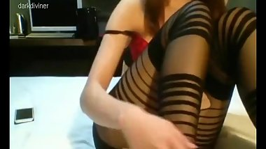 KOREAN BJ DASOM (다솜) - RED AND BLACK OUTFIT, CUTEST GIRL MASTURBATION
