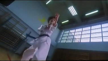 Korean Woman Kicks Men