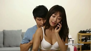 Korean Pussy Swap - Horny korean girl fucked hard on table