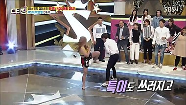 Hot korean MMA girl in korean TV show