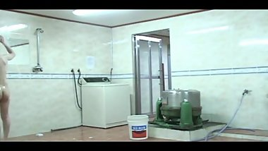 Korean dormitory a shower stall Hidden cam