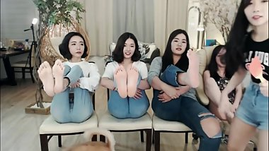 NEW Sep 2017 Korean Girls Playing Falaka/Bastinado