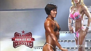 Korean female bodybuilder Park Joo Hee