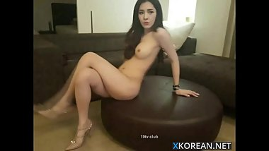 Beautiful korean girl with her boyfriend on cam