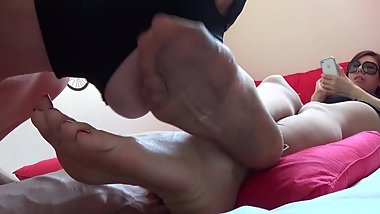 Korea Foot Goddess - Clean my dirty stocking foot