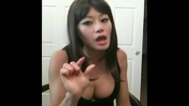 Small Asian Penis Humiliation by Asian Girl who only fucks Big Western Cock