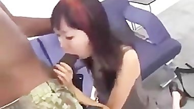 Asian chick fucking a bbc